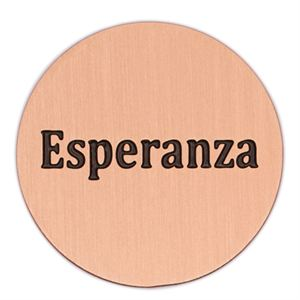 Picture of 'Esperanza' Large Rose Gold Coin